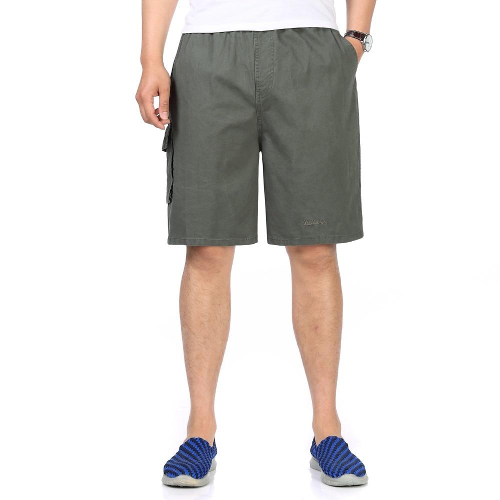Summer Man Leisure Beach Shorts Black Khaki Boardshort Elastic Waist Bottoms With Pockets Male Plain Board Shorts For Men Bottom