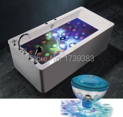 4pcs/lot 6V 3AAA Underwater LED Aquarium Light Show for Pond Bathtub Spa Hot Tub Disco LED Swimming Pool Light Freeshipping