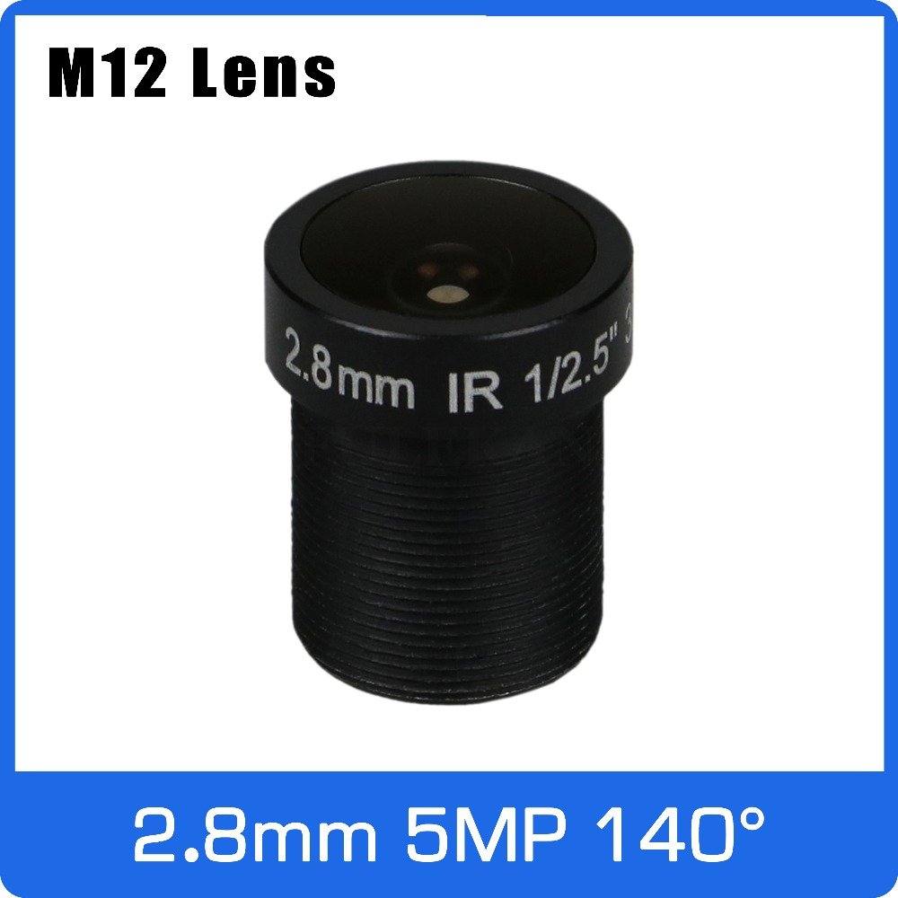 5Megapixel 2.8mm Fixed 1/2.5 Inch 140 Degree Wide Angle CCTV Lens For HD 5MP IP Camera AHD CCTV Camera Free Shipping