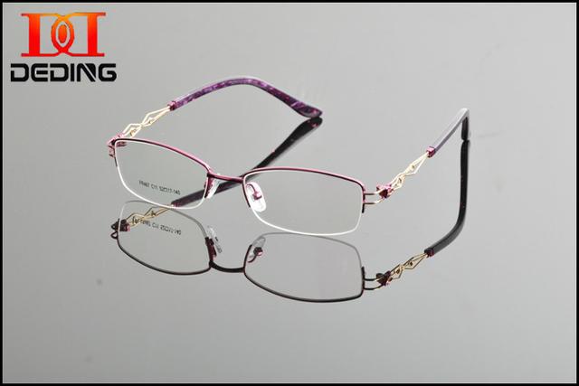 2015 nuevo diseño de la alta calidad de la marca gafas marco marcos ópticos marcos de anteojos Semi los vidrios venta al por mayor al por menor Oculos DD0867