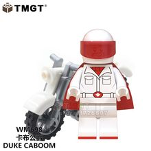 Single Duke Caboom with Motorcycle WM698 Bee Girl Super Mario Toy Story 4 action Building Blocks Children Collection Toys GIFT(China)