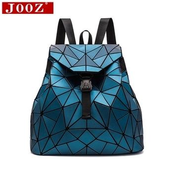 8f9d646d3f7be Erkek ve Kız Geometri Sırt Çantası Holografik Lazer Kapitone okul çantası  Moda gençlere yönelik sırt çantası Kız okul çantası Hologram Çanta