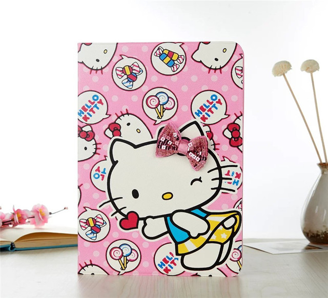New Super slim PU Leather tablet case for Apple iPad Pro 9.7 hello kitty protective sleeve stand cover wake up & sleeping