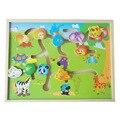 Развивающие логико деревянный лабиринт самолет головоломки животное-детское тела - матч лабиринт разведки раннее обучение детей детские игрушки WJ330
