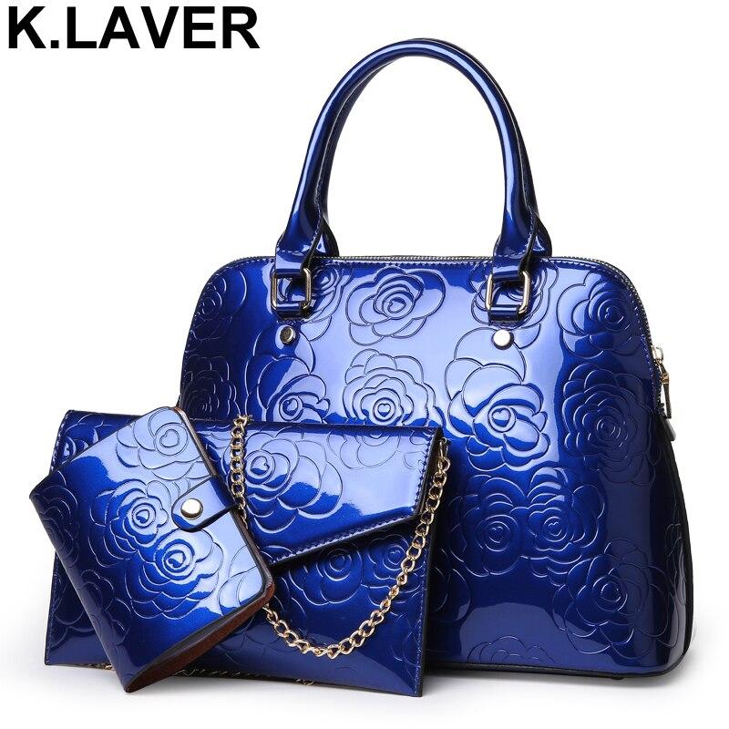 High Quality PU Leather Women Bags Floral Printing 3pcs Set Women Handbags Purse Cultch Composite Messenger bag Leisure Tote Sac high quality tote bag composite bag 2