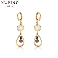 Xuping Fashion Earrings Good Quality Jewelry Women New Shiny Long Drop Earring Wedding Beautiful Design S26,1-90207
