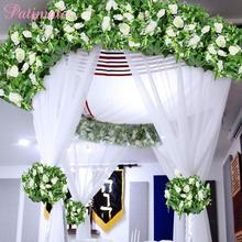 PATIMATE Artificial Flowers Decoration Fake Plants Wall Wedding Flower High Quality Faux Cheap Roses Vine