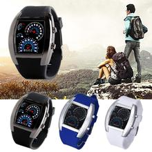 New Fashion Aviation Turbo Dial Flash LED Lovers Watch Gift