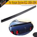 Carbon Fiber Trunk Boot Rear trunk lip wing spoiler For Nissan Skyline R32 1989-1994