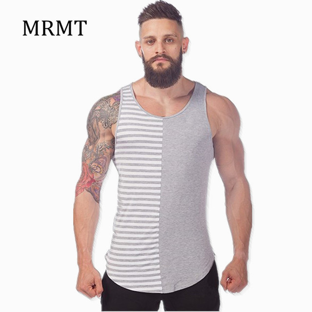 2018 Men Fashion Grey And White Fringe Tank Tops Summer ...
