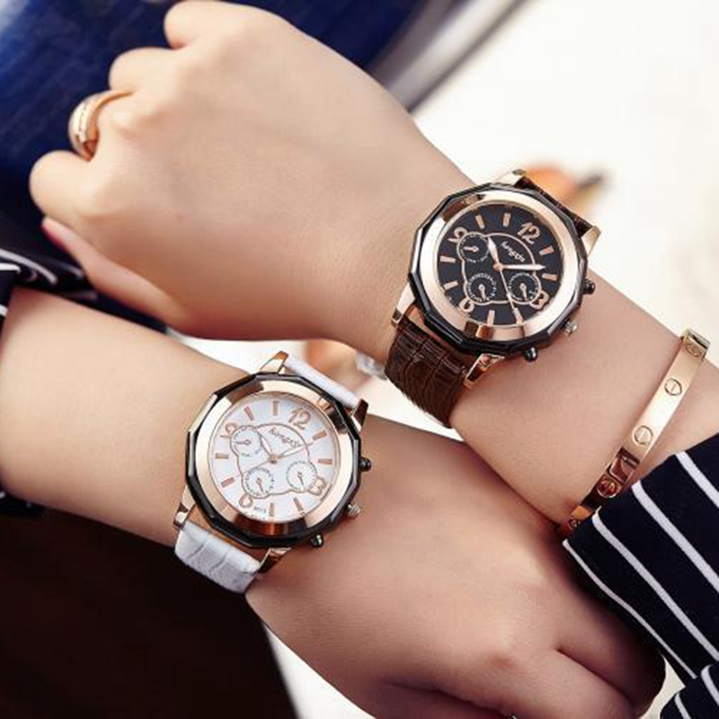 Ladies Fashion Quartz Watch Women Rhinestone Leather Casual Dress Women's Watch Rose Gold Crystal reloje mujer 2017 montre femme tezer ladies fashion quartz watch women leather casual dress watches rose gold crystal relojes mujer montre femme ab2004