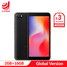 Global Version Xiaomi Redmi 6A 18:9 Full Screen MTK Helio A22 MIUI 9 2GB 16GB 4G LTE AI 13.0MP Face Recognition 6 A Phone(Hong Kong,China)