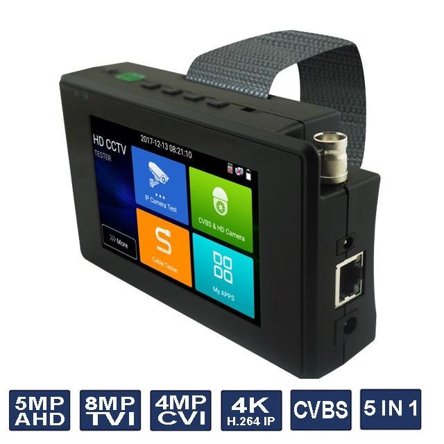 4 pouce Poignet CCTV HD Caméra Testeur H.265 4 k IP 8MP TVI 4MP CVI 5MP AHD Analogique 5 dans 1 CCTV Testeur Moniteur avec WIFI