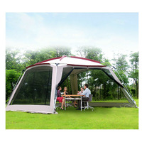 5 8 Person Tourist Tent Double Layer Waterproof Ultralarge Family Party Large Camping Tent Outdoor Sun Shelter Outdoor Tents