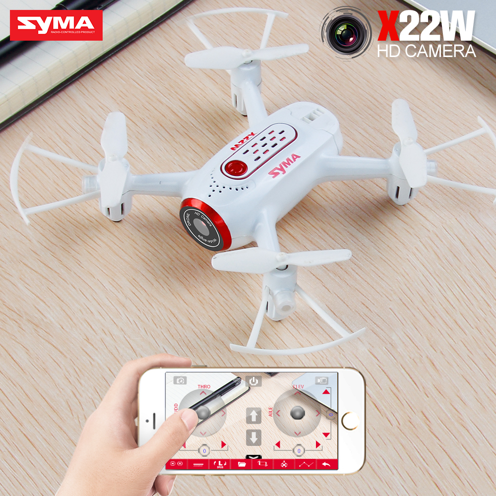 SYMA X22W RC Drone With Camera Dron Helicopter Quadcopter Aircraft Quadrocopter FPV Wifi Transmission Drones Toys For Boys Gift
