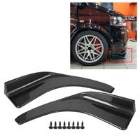 1 Pair of Black/Carbon Fiber Universal Car Rear Bumper Lip Splitter Fins Spoiler Protector Body Shovels Car Accessories