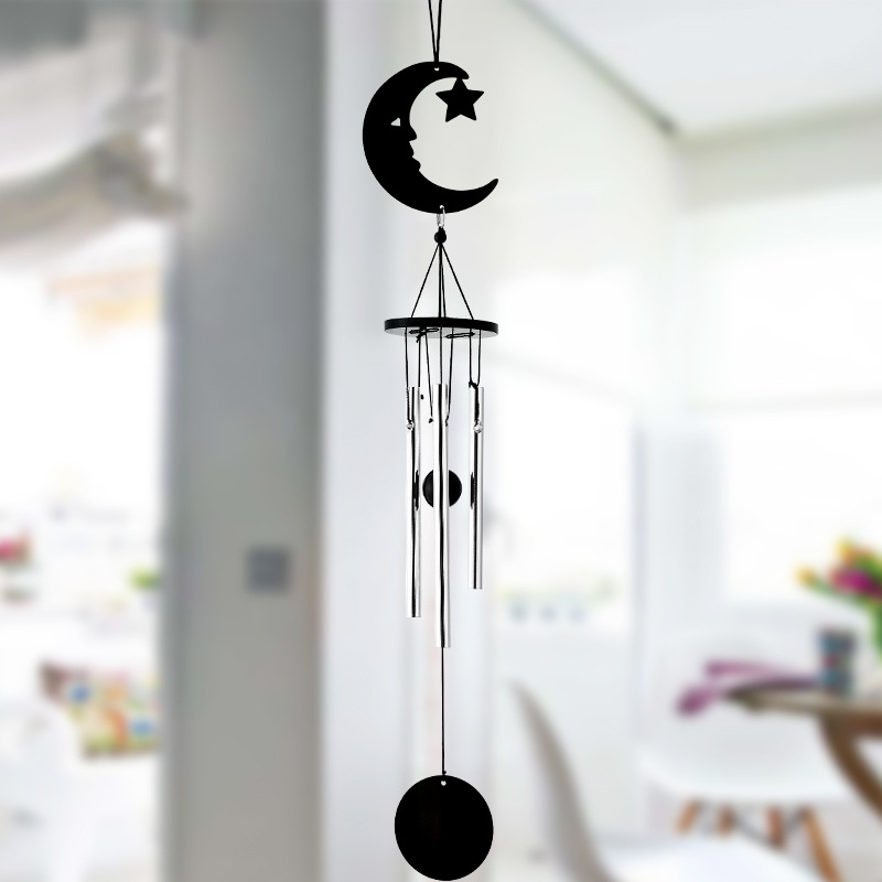 1pcs Black Metal Multi Tube Music Wind Chimes Ornaments Creative Birthday  Gifts Garden Home Decorative Wall Hanging Crafts In Wind Chimes U0026 Hanging  ...