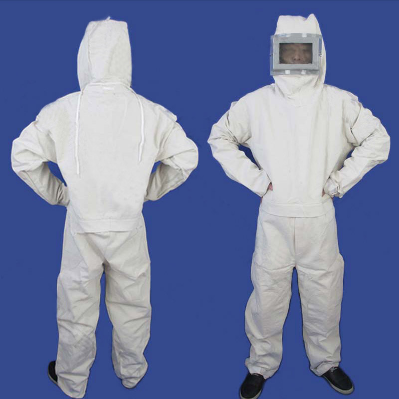Sandblasting Suit Protective Clothing, One-piece Hood, Paint Sanding Coat, Full Body Protection, Labor Insurance Safety Clothing
