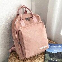 Women Backpack Youth Small Solid Casual Backpacks Students School Bag Teenage Girls Travel Bags Waterproof Rucksack Mochila