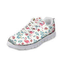 NOISYDESIGNS Spring Tropical Flamingo Printed Women Casual flat Shoes Fashion Womens Sneakers Flat Comfortable for Lady