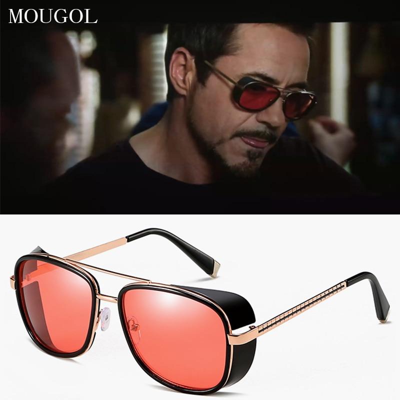 MOUGOL Iron Man 3 Matsuda TONY stark Sunglasses Men Rossi Coating retro Vintage Designer Sun glasses Oculos Masculino Gafas de
