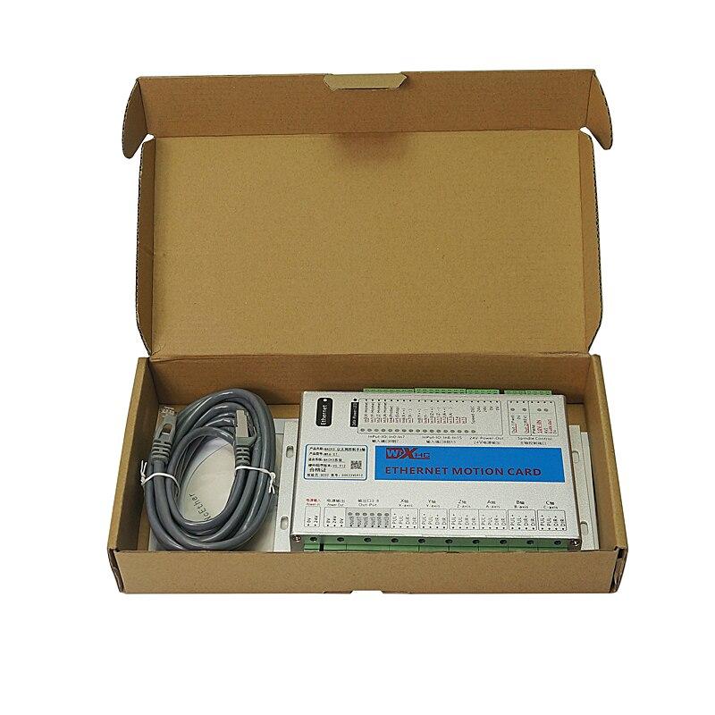 Купить с кэшбэком New Ethernet Port 2MHz Mach3 CNC Motion Control Card MK3 MK4 MK6 Controller Engraving Machine Wood Router Breakout Board