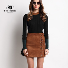 Luxury Skirt Set 2017 Women 2 Piece Set Suit Runway Sweater And Mini Skirt Sets
