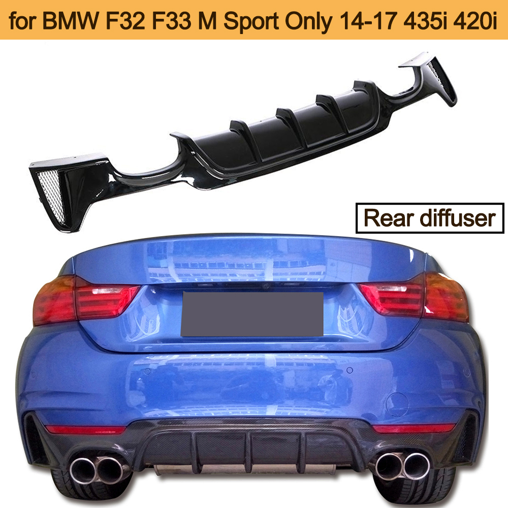 YOUC Carstyling ABS MP Style Rear Bumper Diffuser Lip Dual exhuast one Outlet for BMW 3 Series F30 M Sport FRP Diffuser Lip