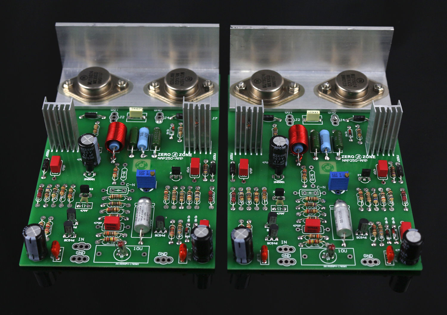 GZLOZONE One Pair Assembeld NCC200 Power Amplifier Board Base On UK NAIM NAP250 / 135 Amp gzlozone one pair clone naim nap140 amplifier kit diy amp kit 2 channel