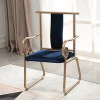 Fashino роскошный золотой железный обеденный стул согласования кресло стул в стиле кофе металла кресло Гостиная диван из металла мебели для го