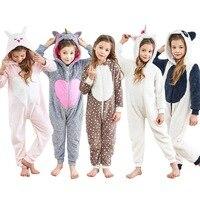 Unisex Children Unicorn Onesie Kids Halloween Costume Hoodie Pajamas Cartoon Rabbit Panda Xmas Elk One Piece Homewear