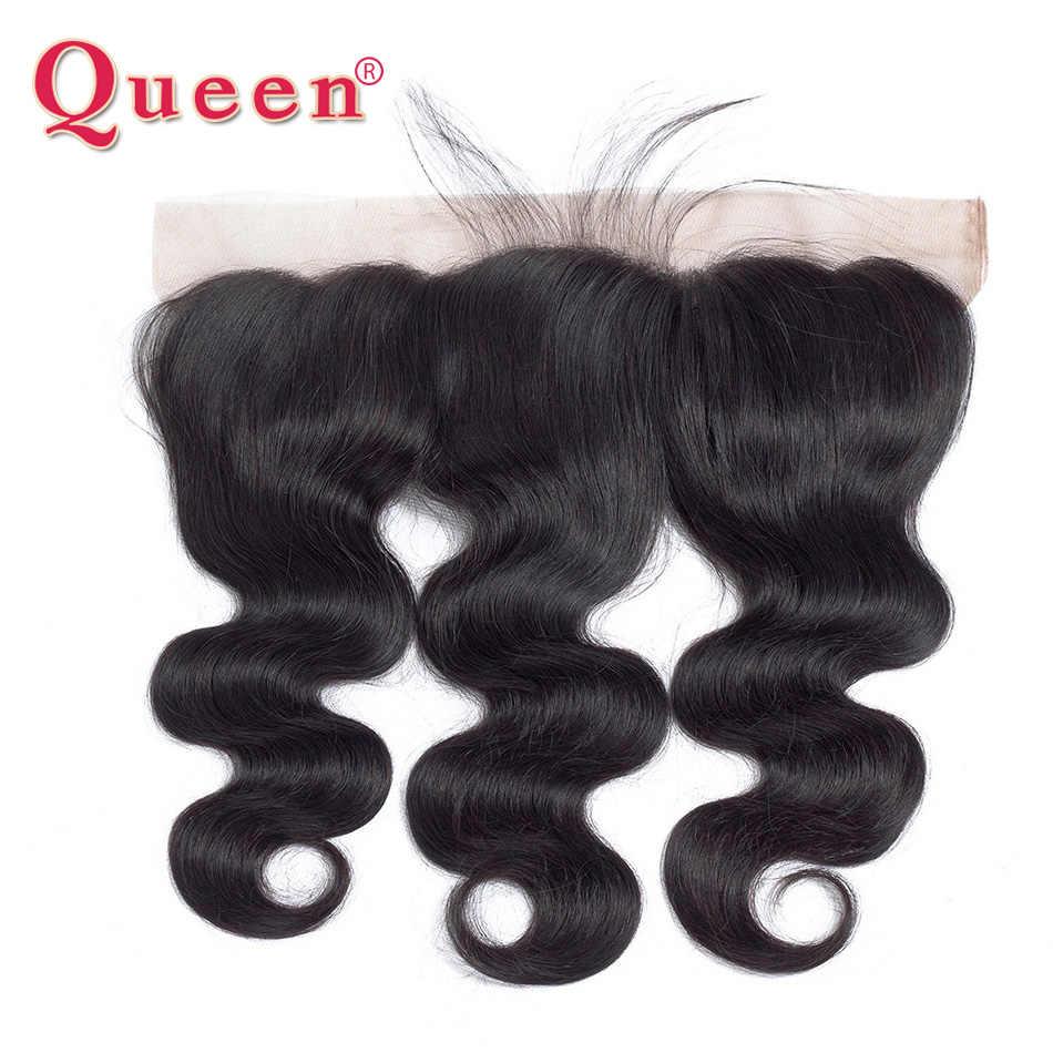 Queen hair продукты бразильский волны человеческого тела пучки волос с фронтальной закрытие бразильского Виргинские пучки волос плетение с закрытием