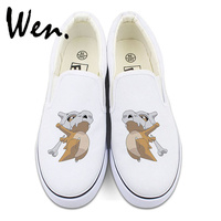 Wen Pokemon Cubone Design Custom Anime Canvas Sneakers White Black Women Men S Slip On Shoes