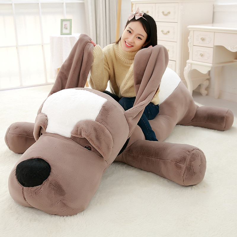 150cm Stuffed Plush Toys Dog Big Eyed Dog Doll Cute Large Lying Dog Doll Toys for Girls Toys for Boys Juguetes Brinquedo