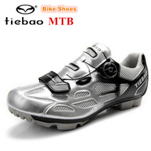 TIEBAO Cycling Shoes Men Shoes Breathable sapatilha ciclismo MTB Racing Mountain Bike Self-Locking Athletic Bicycle Sneakers