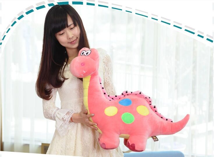 big lovely plush pink dinosaur toy cartoon spots dinosaurs doll gift about 70cm 0309