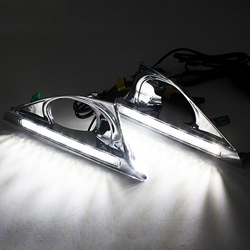 SUNKIA 2Pcs / Set High Bright Car LED DRL ցերեկային - Ավտոմեքենայի լույսեր - Լուսանկար 5