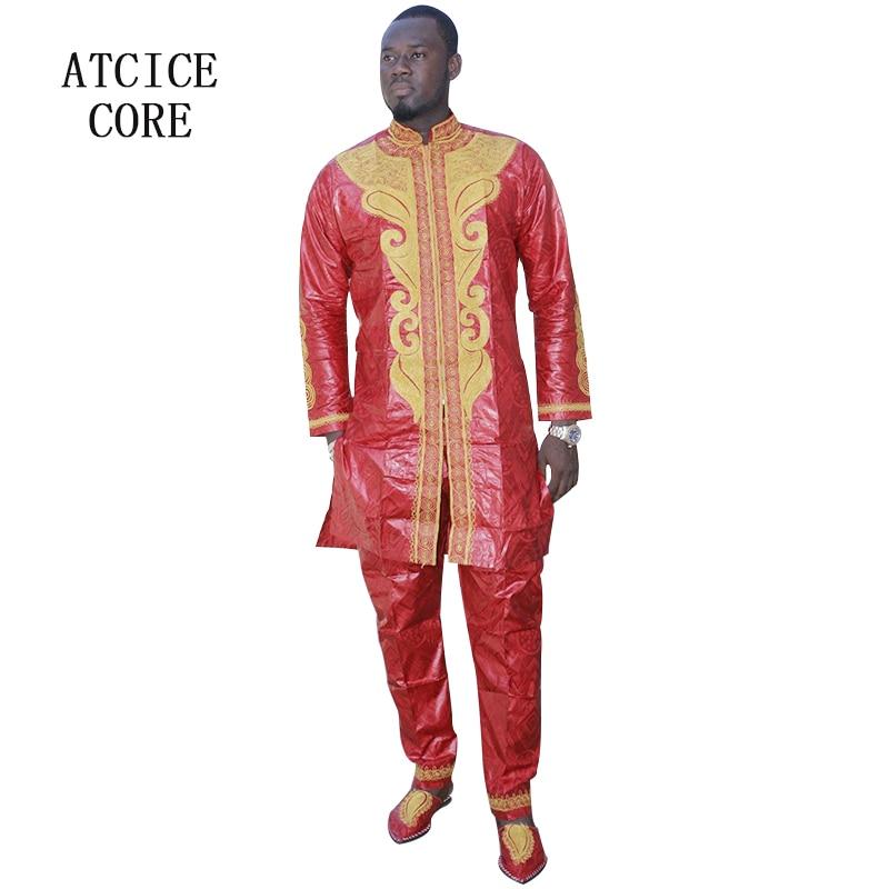 Африканские одежды Дашики традиционные мужские в африканском стиле одежда с длинными рукавами Африканский Базен Riche LC060 #