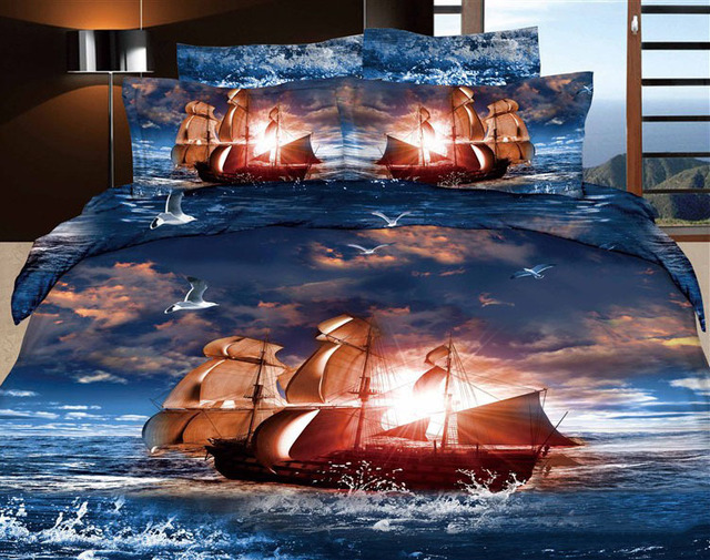 3d king size comforter sets Free Shipping Unique Oil Paint 3D Comforter Set/Bedding Sets  3d king size comforter sets