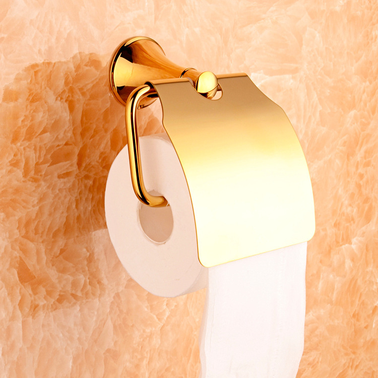Solid brass copper luxury gold bathroom toilet paper ...