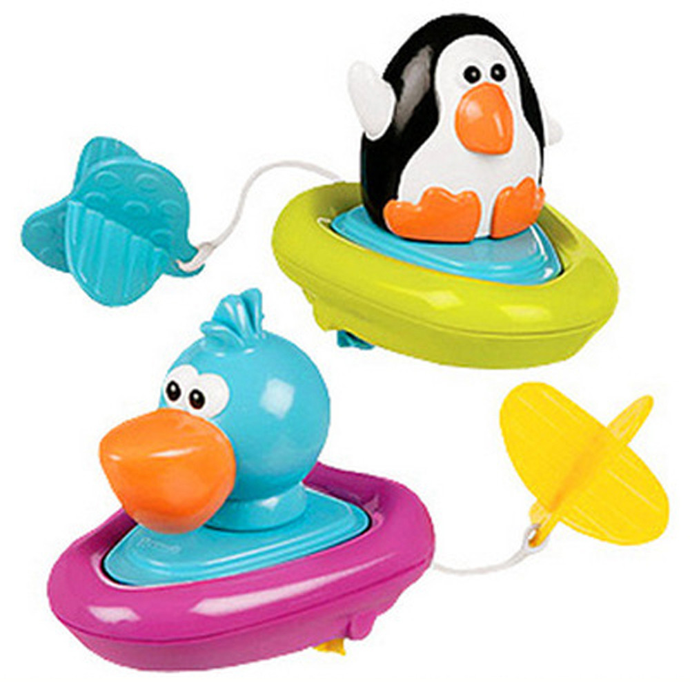 Bathing Boat Animal Toys Educational Children Swimming Pool Pull Toy Baby Gift Pretend Play water Toys Summer 30S874 wholesale
