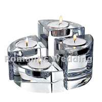 Free shipment 10PCS/lots unique set of four crystal candle holders for Wedding decorations event products party decorations