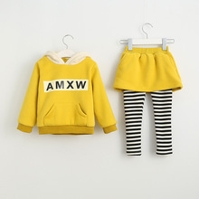 New Striped Baby Girl Clothing Set Autumn Retail 2Pcs Hooded Sweatshirts Leggings Pants Girls Clothes Sets