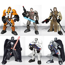 6pcs/lot Star Wars Darth Vader Stormtrooper Light Swords Legoings Building Blocks Kit Toys Gifts(China)