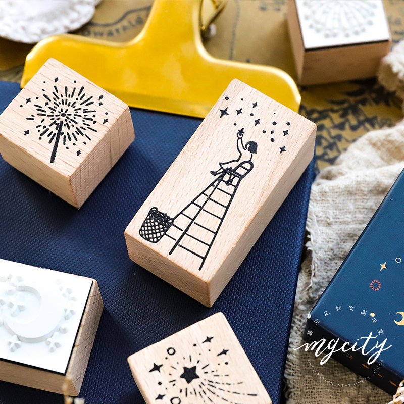 Vintage The Night of Forest Story wood stamp Set DIY wooden rubber stamp for scrapbooking stationery scrapbooking standard stamp