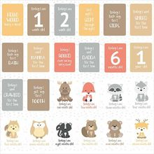 24Pcs/Set For Memory Baby Pregnant Women Monthly Photograph Cards Fun Month Milestone