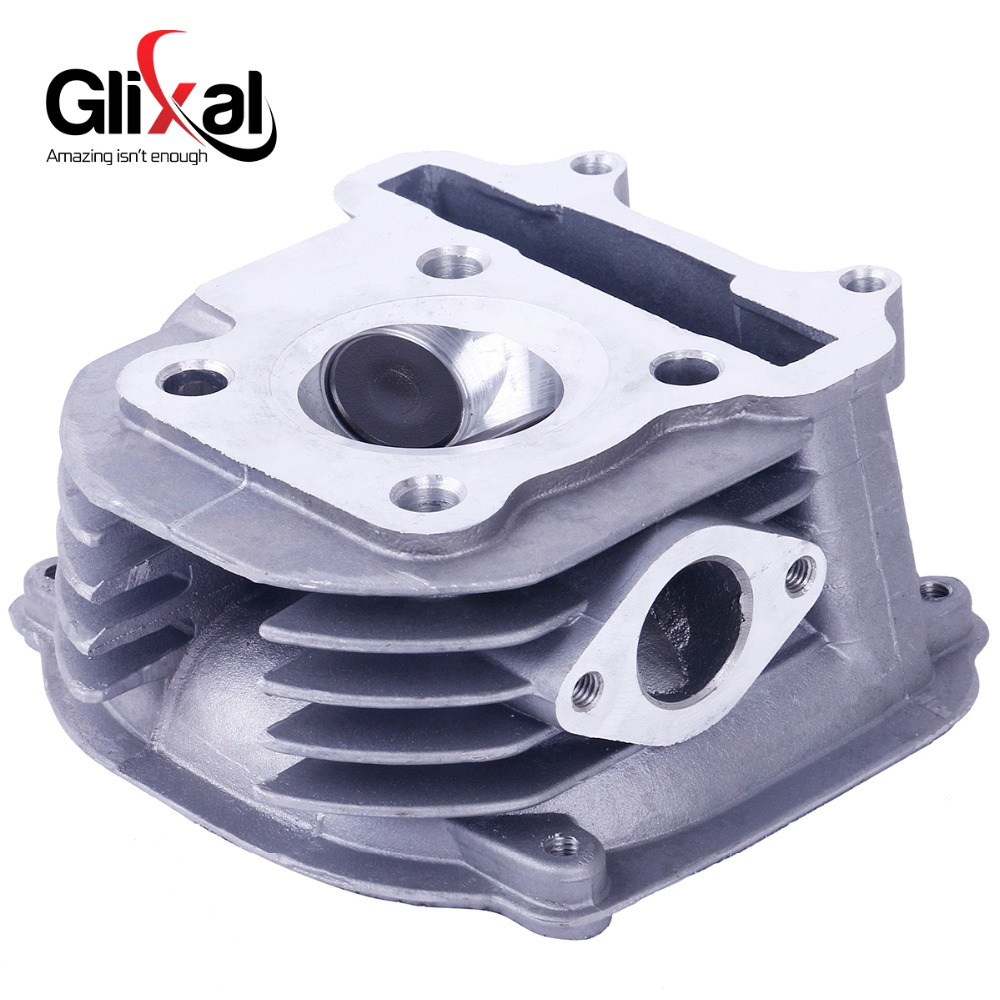 Glixal GY6 125cc Chinese Scooter Engine 52.4mm Cylinder Head Assy with Valves for 4T 152QMI ATV Go Kart Buggy Moped Quad