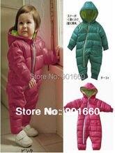 Hiver bébé tout cultiver body Romper Onesie Outfit habit de neige 2 couleurs