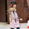 Jacket Girl Casual Children Parka Winter Coat Duck Long Section Down Thick Fur Hooded Kids Winter Jacket For Girls Outerwea