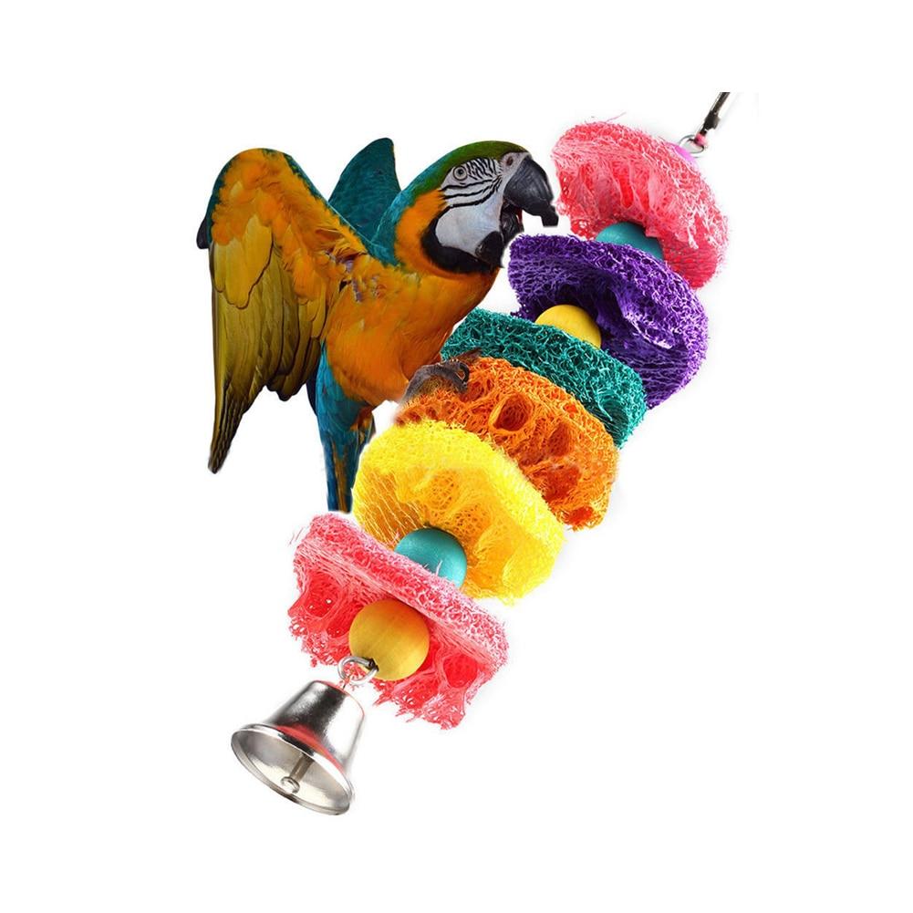 Игрушка для жевания птиц попугай Попугайчик клетка гамак качели игрушка подвесная игрушка - Цвет: 3